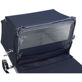 Silver Cross Balmoral Classic Pram Rain Shield in Navy
