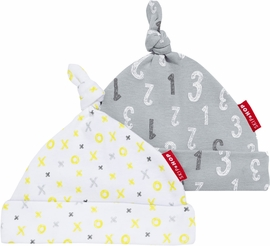 Skip Hop ABC-123 Baby Hat Set - Grey