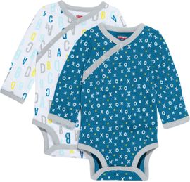 Skip Hop ABC-123 Long Sleeve Bodysuit Set, 2-Pack - Blue (6 Months)