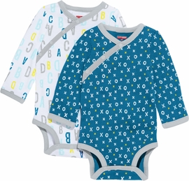 Skip Hop ABC-123 Long Sleeve Bodysuit Set, 2-Pack - Blue (Newborn)