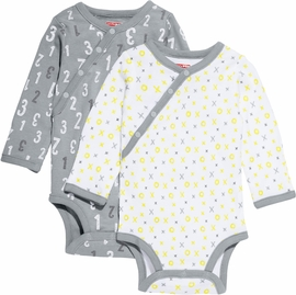 Skip Hop ABC-123 Long Sleeve Bodysuit Set, 2-Pack - Grey (3 Months)