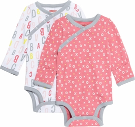 Skip Hop ABC-123 Long Sleeve Bodysuit Set, 2-Pack - Pink (3 Months)