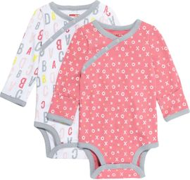Skip Hop ABC-123 Long Sleeve Bodysuit Set, 2-Pack - Pink (6 Months)