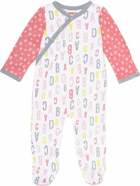 Skip Hop ABC-123 Side Snap Footie - Pink (9 Months)
