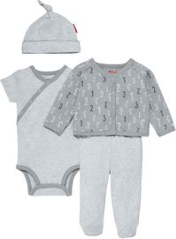 Skip Hop ABC-123 Welcome Home 4-Piece Set - Grey (3 Months)