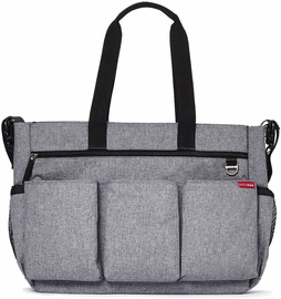 Skip Hop Duo Double Signature Diaper Bag - Heather Grey