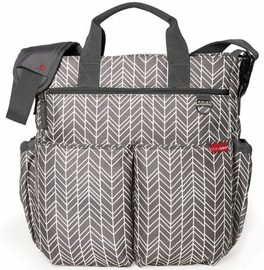 Skip Hop Duo Signature Diaper Bag - Grey Feather