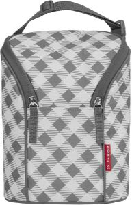 Skip Hop Grab & Go Double Bottle Bag - Gingham