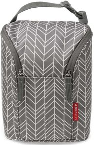 Skip Hop Grab & Go Double Bottle Bag - Grey Feather