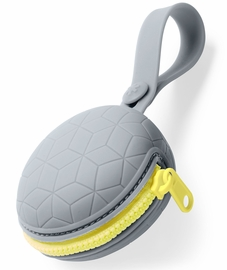 Skip Hop Grab & Go Silicone Pacifier Holder - Grey