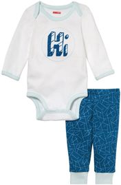 Skip Hop Long Sleeve Bodysuit & Pant Set, Hi - Galaxy (9 Months)