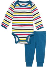 Skip Hop Long Sleeve Bodysuit & Pant Set - Stripes (9 Months)