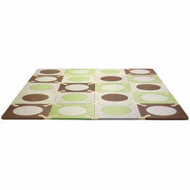 Skip Hop Playspot Interlocking Foam Tiles - Green/Brown