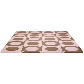 Skip Hop Playspot Interlocking Foam Tiles - Pink / Brown