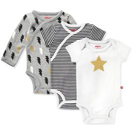 Skip Hop Star-Struck Bodysuit, 3-Pack - Grey (9 Months)