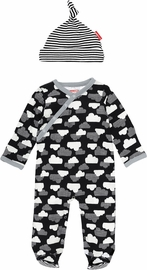 Skip Hop Star-Struck Footie & Hat Set - Cloud (9 Months)