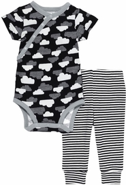 Skip Hop Star-Struck Short Sleeve Bodysuit & Pant Set - Cloud (Newborn)