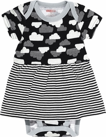 Skip Hop Star-Struck Skirted Short Sleeve Bodysuit - Cloud (9 Months)