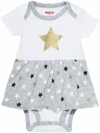 Skip Hop Star-Struck Skirted Short Sleeve Bodysuit - Stars (Newborn)