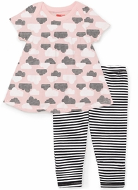 Skip Hop Star-Struck Tunic & Leggings Set - Pink (Newborn)