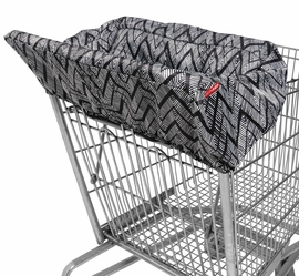 Skip Hop Take Cover Shopping Cart Cover - Zig Zag Zebra