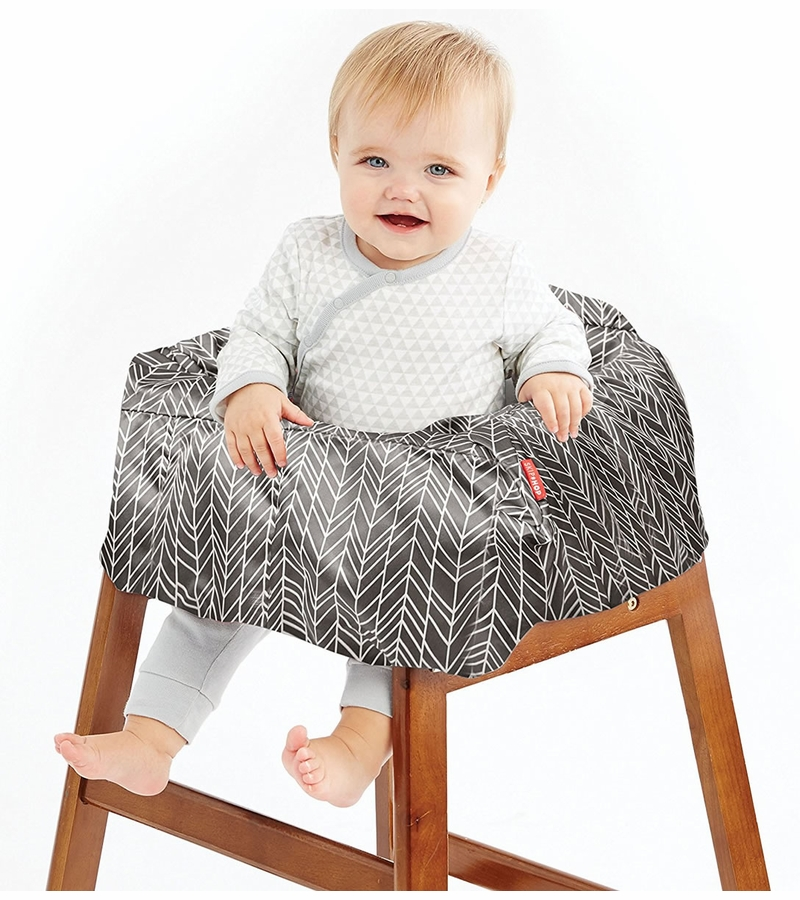 Pleasing Skip Hop Take Cover Shopping Cart High Chair Cover Grey Feather Evergreenethics Interior Chair Design Evergreenethicsorg