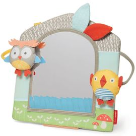 Skip Hop Treetop Friends Activity Mirror - Grey/Pastel