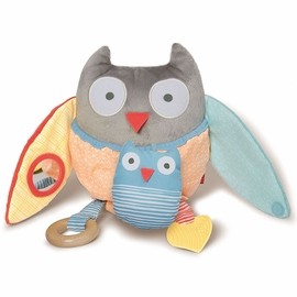 Skip Hop Treetop Friends Hug & Hide Owl Activity Toy - Grey/Pastel