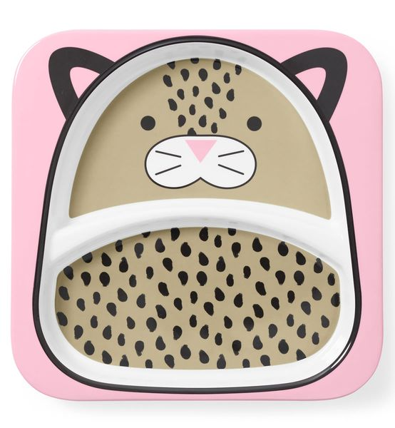 Skip Hop Zoo Divided Plate - Leopard