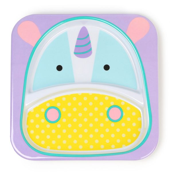 Skip Hop Zoo Divided Plate - Unicorn