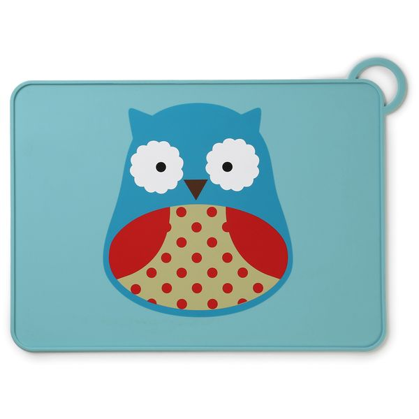 Skip Hop Zoo Fold & Go Silicone Placemat - Owl