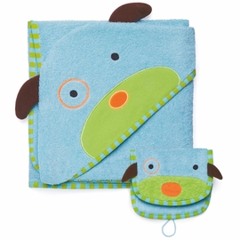 Skip Hop ZOO Hooded Towel & Mitt Set - Dog