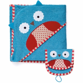 Skip Hop ZOO Hooded Towel & Mitt Set - Owl