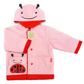 Skip Hop Zoo Little Kid Raincoat, Small (2) - Ladybug