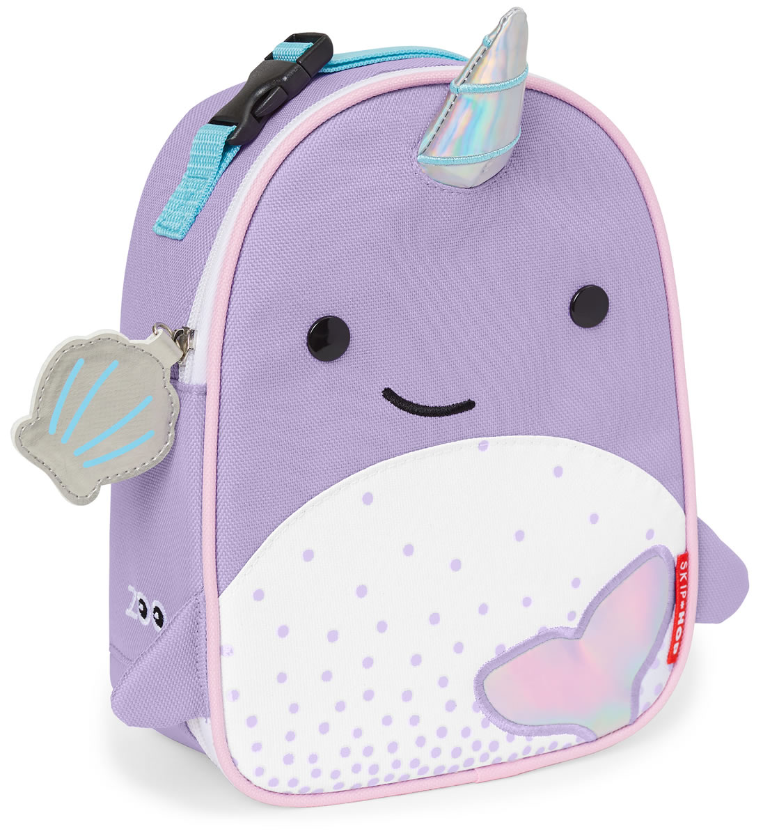 02c2cf0977f1 Skip Hop Zoo Lunchie Insulated Lunch Bag - Narwhal