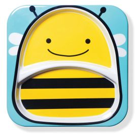 Skip Hop Zoo Divided Plate in Bee