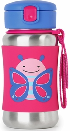 Skip Hop Zoo Stainless Steel Straw Bottle - Butterfly