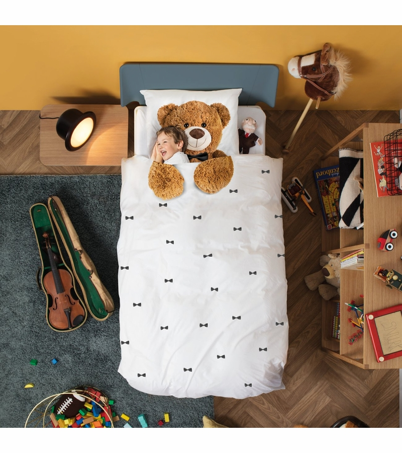 Snurk Duvet Cover Set Twin Teddy Bear