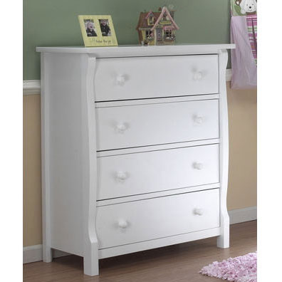 sorelle tuscany princeton 4 drawer dresser in white. Black Bedroom Furniture Sets. Home Design Ideas