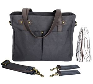 SoYoung Emerson Tote Diaper Bag - Slate