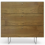 "Spot On Square Alto Dresser 34"" - White/Walnut"