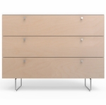 "Spot On Square Alto Dresser 45"" - White/Birch"