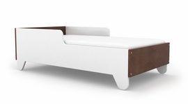 Spot On Square Hiya Toddler Bed - Walnut