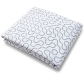 Spot On Square Join Organic Fitted Crib Sheet - Grey