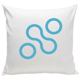 Spot On Square Join Organic Pillow - Blue