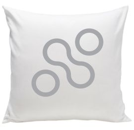 Spot On Square Join Organic Pillow - Grey