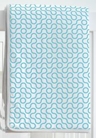 Spot On Square Join Organic Quilt - Blue
