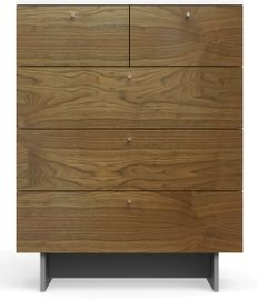 Spot On Square Roh 5 Drawer Dresser - White/Walnut