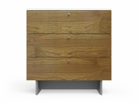 "Spot On Square Roh Dresser 34"" Wide - White/Walnut"