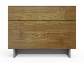 "Spot On Square Roh Dresser 45"" Wide - White/Walnut"